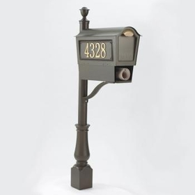 Whitehall Deluxe Chalet Mailbox Package w/Newspaper Box - Bronze