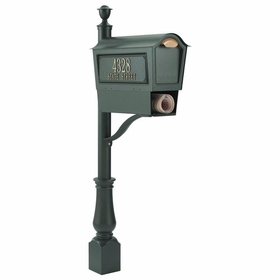 Whitehall Deluxe Chalet Mailbox Package w/Newspaper Box - Green
