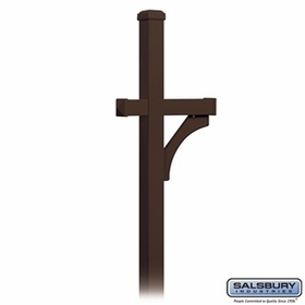 Salsbury 4370D-BRZ Deluxe In-Ground Post For Designer Roadside Mailbox Bronze Finish