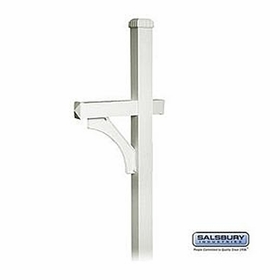 Salsbury 4370D-NIC Deluxe In-Ground Post For Designer Roadside Mailbox Nickel Finish