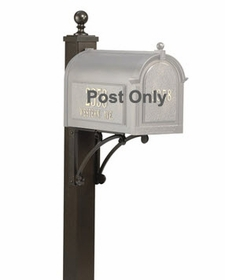 Extended Length Deluxe Post and Brackets - Bronze (POST ONLY)