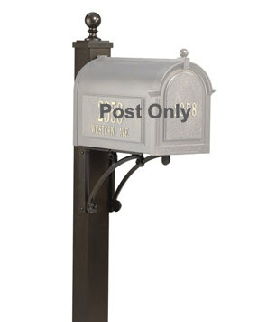 Whitehall Deluxe Post, Ball Finial and Brackets (Choose Color)