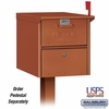 Salsbury 4325D-COP Designer Roadside Mailbox Copper Finish