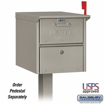 Salsbury 4325D-NIC Designer Roadside Mailbox Nickel Finish