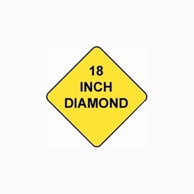 Diamond Sign Reflective Faceplate 18""