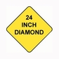 Diamond Sign Reflective Faceplate 24""
