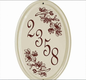 Whitehall Dogwood Ceramic Oval - Vertical One Line Standard Wall Plaque