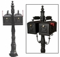 Double Curbside Barcelona Mailbox with Ornamental Post