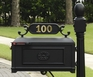 Double Curbside Mailbox with Ornamental Post and Newspaper Box