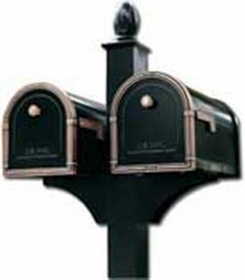 Double Decorative Post System (Mailboxes Purchased Separately)