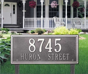 Whitehall Double Line Estate Lawn Address Sign - Two Line