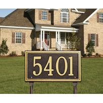 Whitehall Double Line Standard Lawn Address Sign - One Line