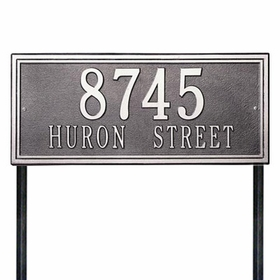 Whitehall Double Line Standard Lawn Address Sign - Two Line