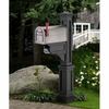 Dover Mailbox Post in Black