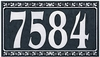 Whitehall Dresden Four Number Wall Plaque - (1 Line)