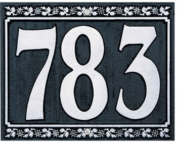 Whitehall Dresden Three Number Wall Plaque - (1 Line)
