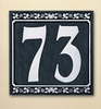 Whitehall Dresden Two Number Wall Plaque - (1 Line)