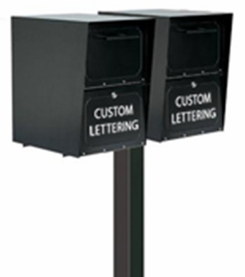 Double Locking Curbside Standard Surface Mount Post System (Mailboxes purchased separately)