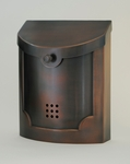 E4AC Wall Mounted Antique Copper Modern Mailbox