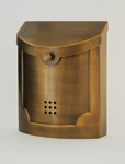 E4BS Satin Brass Wall Mounted Modern Mailbox
