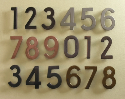 E4N House Numbers (priced per number - choose color)