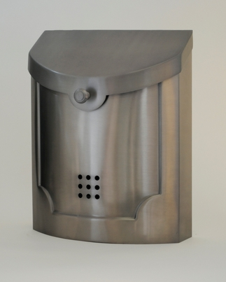 Contemporary Steel Wall Mount Mailbox In Nickel