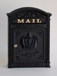 E6 Victorian Locking Wall Mount Mailbox - Black