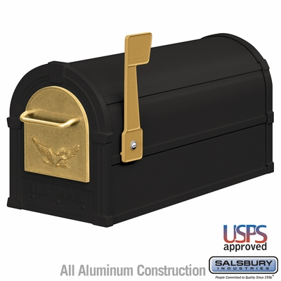 Salsbury 4855E-BLG Eagle Rural Mailbox Black Gold Eagle