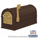 Salsbury 4855E-BZG Eagle Rural Mailbox Bronze Gold Eagle