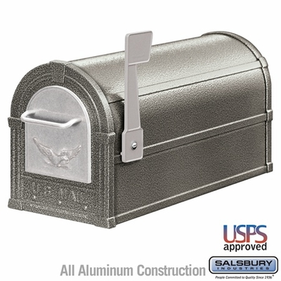 Salsbury 4855E-PWS Eagle Rural Mailbox Pewter Silver Eagle