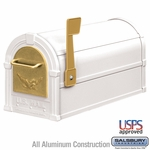 Salsbury 4855E-WHG Eagle Rural Mailbox White Gold Eagle