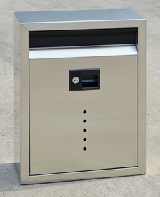 Ecco E10 Satin Stainless Steel Wall Mailbox