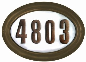 """Edgewood Oval """"Do it yourself kit"""" Lighted Address Plaque in French Bronze Frame Color"""