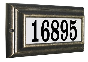 Edgewood Standard Lighted Address Plaque in Oil Rub Bronze Frame Color