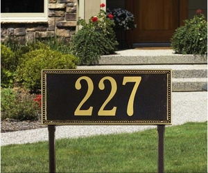 Whitehall Egg and Dart Estate Lawn Address Sign - One Line