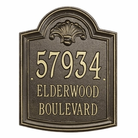 Whitehall Elderwood - Estate Lawn Address Sign - Three Line