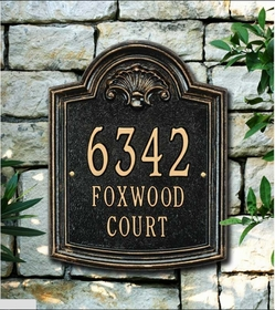 Whitehall Elderwood - Standard Lawn Address Sign - Three Line
