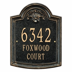 Whitehall Elderwood - Standard Three Line Wall Plaque