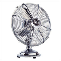 Electric Fan-Chrome Plated-Small-1 speed-Non oscillating