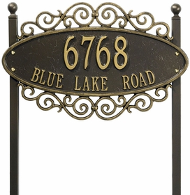 Whitehall Essex (Gateway) - Standard Lawn Address Sign - Two Line