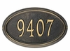 Estate Size Concord OVAL Wall or Lawn Plaque - (1 or 2 lines)