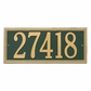 Estate Size Double Line Frame Wall or Lawn Plaque - (1 or 2 Lines)