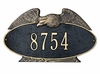 Whitehall Estate Size Eagle OVAL Wall or Lawn Plaque - (1 or 2 Lines)