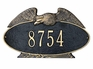 Estate Size Eagle OVAL Wall or Lawn Plaque - (1 or 2 Lines)