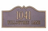 Standard Size Hillsboro Wall or Lawn Plaque - (1 or 2 lines)