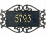Estate Size Lewis Fretwork Wall or Lawn Plaque - (1 Line)