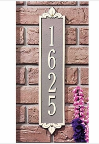 Estate Size Lyon Vertical Wall Plaque - (1 Line)