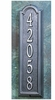 Estate Size Manchester Vertical Wall Plaque - (1 Line)