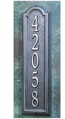 Whitehall Estate Size Manchester Vertical Wall Plaque - (1 Line)