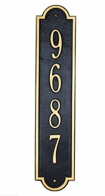 Standard Size Richmond Vertical Wall Plaque - (1 Line)